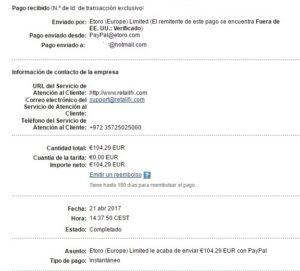 Etoro me ha pagado 104 euross